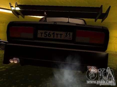 VAZ 2107 X-estilo para GTA San Andreas vista posterior izquierda
