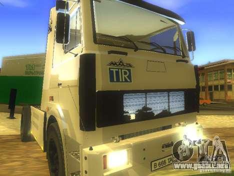MAZ 5432 Turbo para visión interna GTA San Andreas
