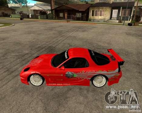 Mazda RX7 FnF para GTA San Andreas left