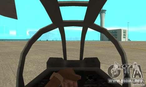 Hunter - AH-1Z Cobra para la visión correcta GTA San Andreas