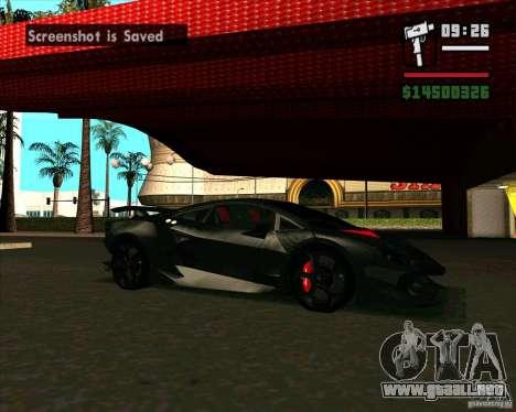 Lamborghini Sesto Elemento para GTA San Andreas left