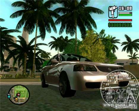 Nissan Sunny para GTA San Andreas vista posterior izquierda