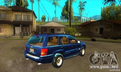 Jeep Grand Cherokee 2005 para la visión correcta GTA San Andreas
