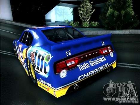 Dodge Charger Nascar 2012 para GTA San Andreas left