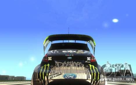 Ford Fiesta Gymkhana para la visión correcta GTA San Andreas