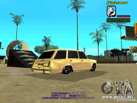 VAZ 2102 oro para GTA San Andreas vista posterior izquierda