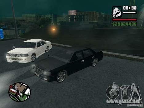 Toyota Crown Tunable para GTA San Andreas vista hacia atrás
