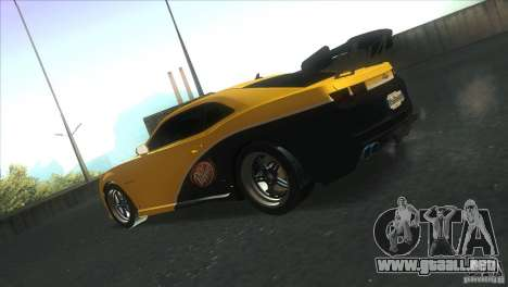Chevrolet Camaro SS Dr Pepper Edition para la vista superior GTA San Andreas