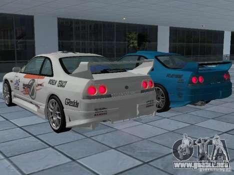 Nissan Skyline R 33 GT-R para vista inferior GTA San Andreas