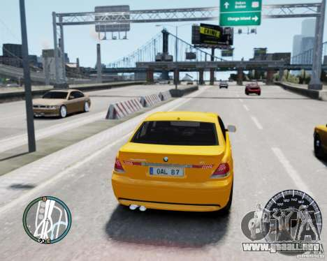 BMW Alpina B7 para GTA 4 Vista posterior izquierda