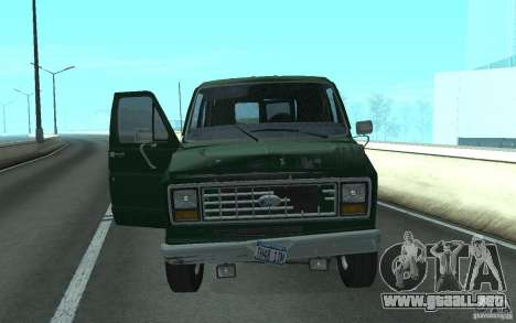 Ford E-150 Short Version v2 para GTA San Andreas vista posterior izquierda