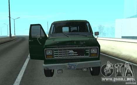 Ford E-150 Short Version v2 para GTA San Andreas vista posterior izquierda