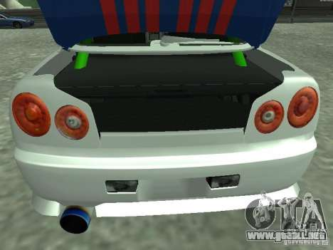 Nissan Skyline Indonesia Police para GTA San Andreas vista hacia atrás