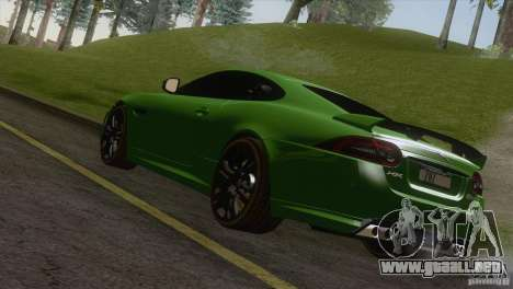 Jaguar XKR-S 2011 V1.0 para GTA San Andreas left