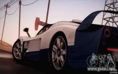 Maserati MC12 V1.0 para vista inferior GTA San Andreas