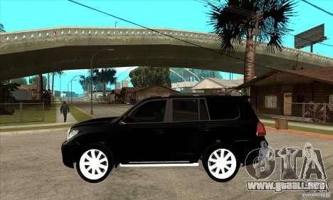 Lexus LX 570 2010 para GTA San Andreas left