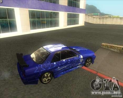 Nissan Skyline R32 GTS-T type-M para vista lateral GTA San Andreas