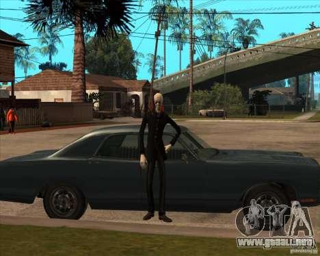 Delgado en gafas oscuras para GTA San Andreas quinta pantalla