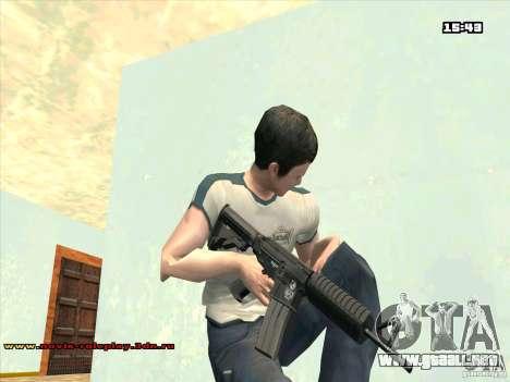 M4 HD para GTA San Andreas segunda pantalla