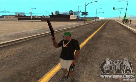 WEAPON BY SWORD para GTA San Andreas quinta pantalla