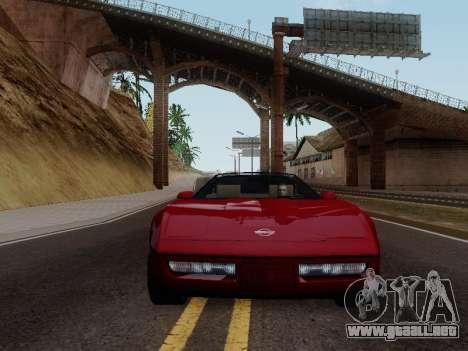 Chevrolet Corvette C4 1984 para GTA San Andreas vista hacia atrás