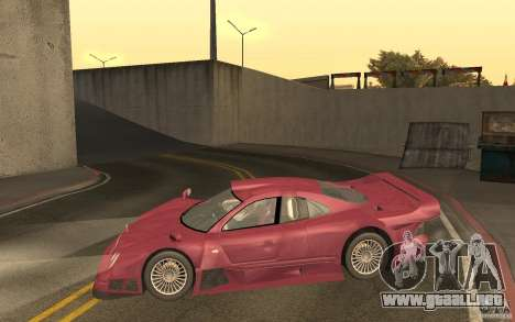 Mercedes-Benz CLK GTR road version (v2.0.0) para GTA San Andreas left