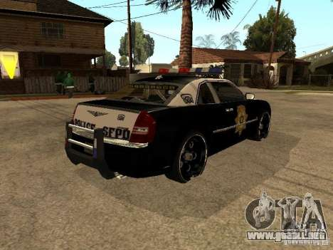 Chrysler 300C Police para GTA San Andreas vista posterior izquierda