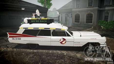 Cadillac Ghostbusters para GTA 4 vista hacia atrás