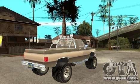 GMC Sierra Grande 1985 para la visión correcta GTA San Andreas