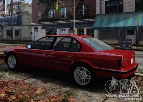 BMW 750i E38 1998 M-Packet para GTA 4 vista desde abajo