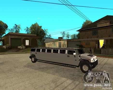 AMG H2 HUMMER 4x4 Limusine para la visión correcta GTA San Andreas