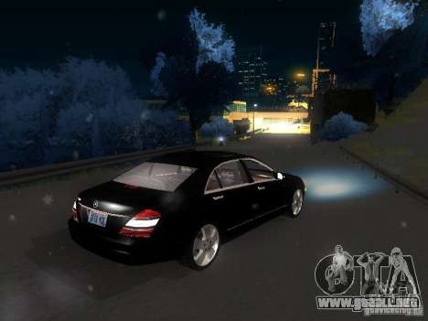 Mercedes-Benz S600 para vista inferior GTA San Andreas