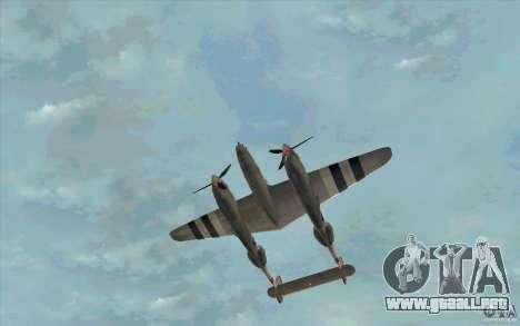 P38 Lightning para visión interna GTA San Andreas