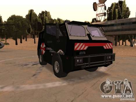 AM 7.0 Umbrella Corporation para GTA San Andreas vista hacia atrás