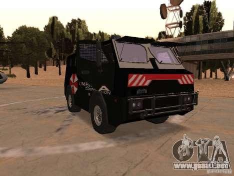AM 7.0 Umbrella Corporation para GTA San Andreas vista hacia atrás