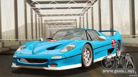 Ferrari F50 v1.0.0 Road Version para visión interna GTA San Andreas