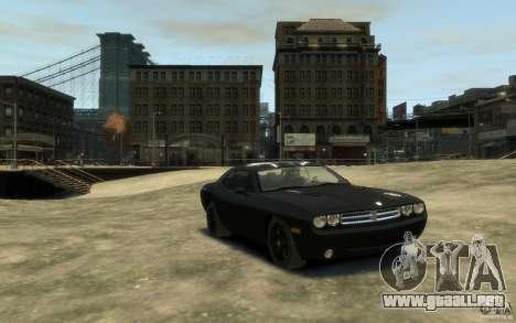 Dodge Challenger Concept Slipknot Edition para GTA 4 vista hacia atrás