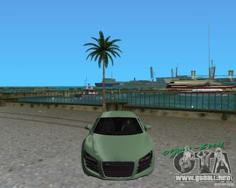 Audi R8 4.2 Fsi para GTA Vice City visión correcta