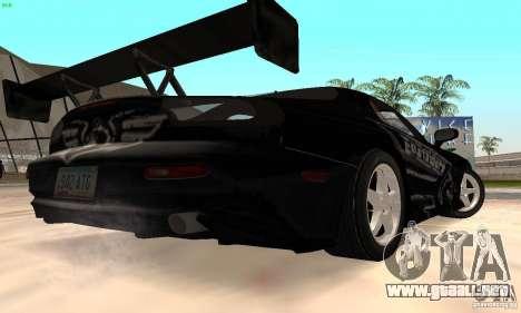 Mazda RX7 Tuned para GTA San Andreas vista hacia atrás