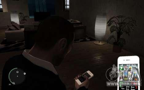 Iphone 4G para GTA 4 tercera pantalla