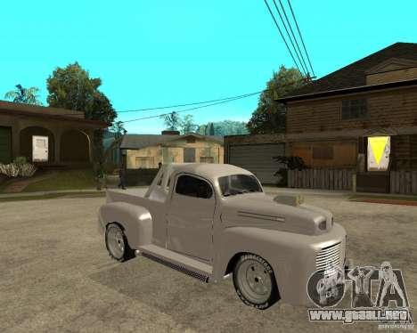 Ford F1 Pickup Hotrod 49 para la visión correcta GTA San Andreas