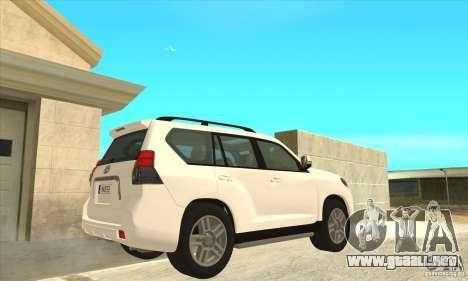 Toyota Land Cruiser Prado 150 para la visión correcta GTA San Andreas
