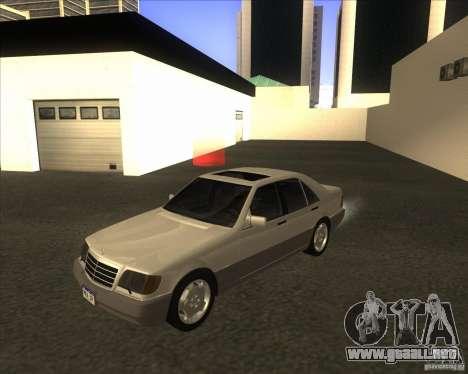 Mercedes Benz 400 SE W140 para GTA San Andreas
