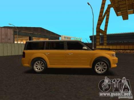 Ford Flex para GTA San Andreas vista posterior izquierda