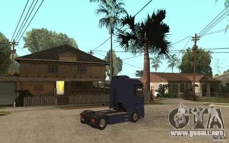 MAN TGX V8 para la visión correcta GTA San Andreas