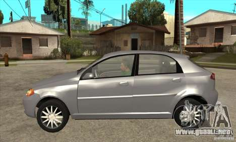 Chevrolet Optra 2011 Hatchback para GTA San Andreas left