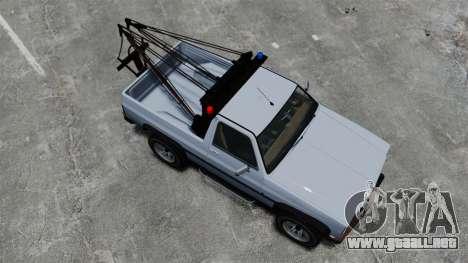 Rancher Tow Truck ELS para GTA 4 visión correcta