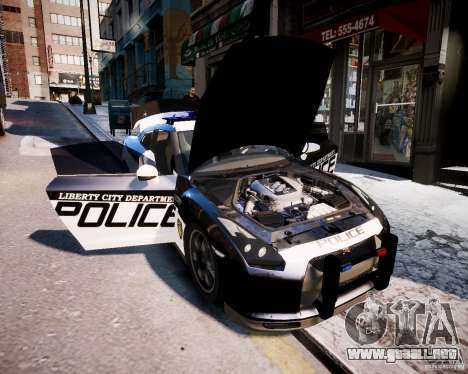 Nissan Spec GT-R Enforcer para GTA 4 visión correcta