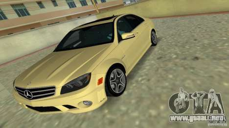 Mercedes-Benz C63 AMG 2010 para GTA Vice City vista superior