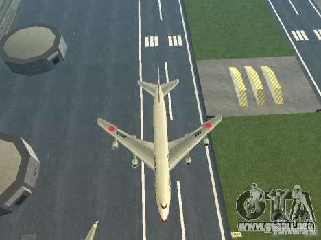 Boeing 747-100 Japan Airlines para visión interna GTA San Andreas